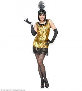 Gouden Jaren 20 Flapper Vrouw Kostuum