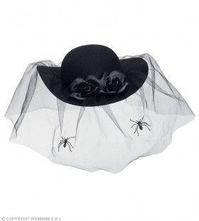 Zwarte Weduwe Spinnen Hoed Heks