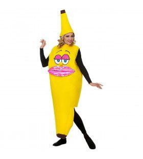 Lekker Geel Hapje Miss Banana Vrouw Kostuum