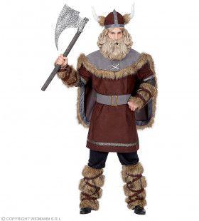 Onverwoestbare Woeste Viking Noorwegen Man Kostuum