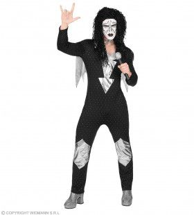 Heavy Metal Rock Star Kiss Man Kostuum