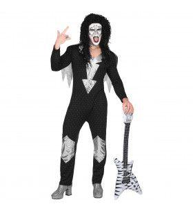 Heavy Metal Rock Star Kiss Man Kostuum