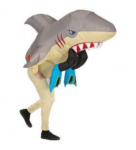 Opblaasbaar Verzwolgen Door Een Haai Kostuum
