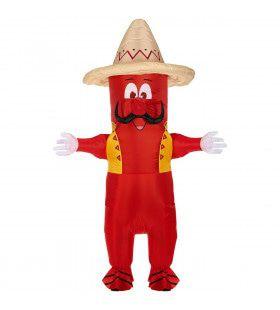 Opblaasbaar Mexicaans Hete Chili Pepper Kostuum