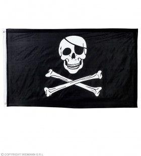Piraten Vlag Zeerover Schip 150 X 90 Centimeter