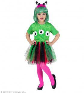 Geinige Groene Alien Meisje Kostuum