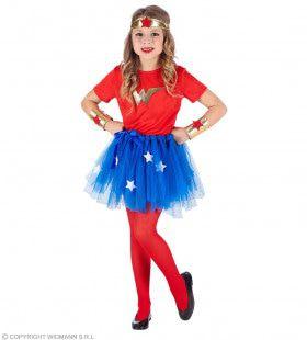 Super Sterke Wonder Girl Meisje Kostuum