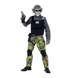 Zombie Soldaat Eeuwige Slagvelden Groen Camouflage Jongen Kostuum