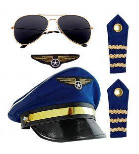 Vierdelige Set Luchtvaart Piloot