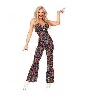Overal Bloemen Flower Power Hippie Jumpsuit Vrouw Kostuum