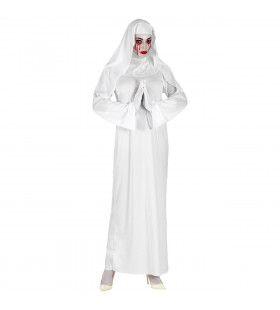 Voor Eeuwig Rondwarende Klooster Non Vrouw Kostuum