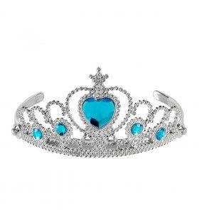 Zilveren Tiara Met Turquoise Steentjes Prinses
