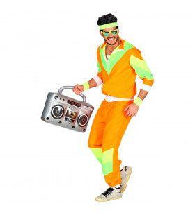 Oranje Jaren 80 Trainingspak Harrie Man Kostuum