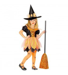 Gemeen Grinnikende Horror Heks Meisje Kostuum