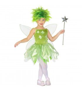 Groene Bosfee Grote Eik Meisje Kostuum