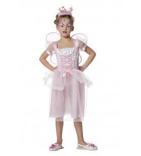 Mystiek Feetje Roze Met Vleugels Meisje Kostuum