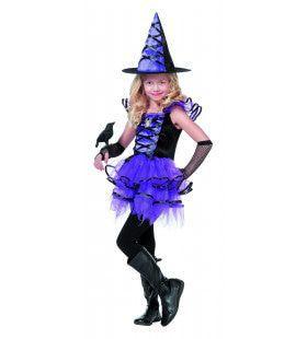 Hester Heks Paars / Zwart Inclusief Hoed Meisje Kostuum