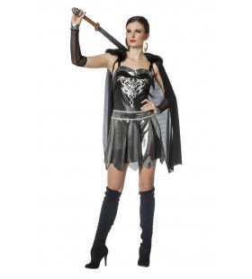 Romeinse Warrior Sharp Steel Vrouw Kostuum