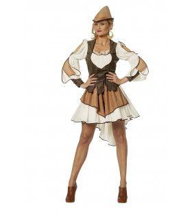 Sherwood Hero Kerker Vrouw Kostuum