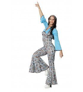 Hippy Catsuit Flower Miauwer Vrouw Kostuum