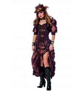 Dark Steampunk Luxe Vrouw Kostuum