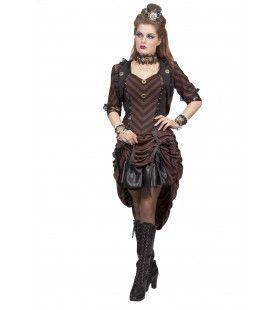 Fantasy Steampunk Vrouw Kostuum