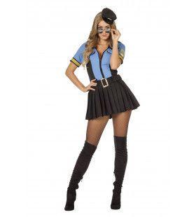 Meer Blauw Op Straat Politie Vrouw Kostuum