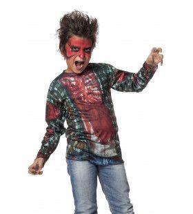Shirt Afschuwelijke Zombie Jongen