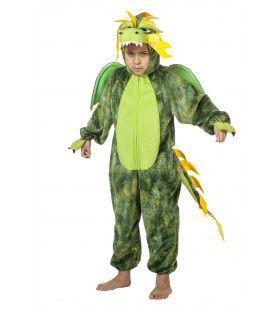 Vliegende Vuurspuwende Draak Groen Jongen Kostuum