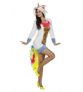 Enerverende Eenhoorn Vrouw Kostuum
