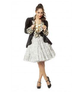 Petticoat Swing Luxe Metallic Zilver