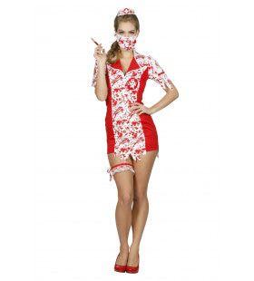 Prikkelende Zombie Verpleegster Vrouw Kostuum