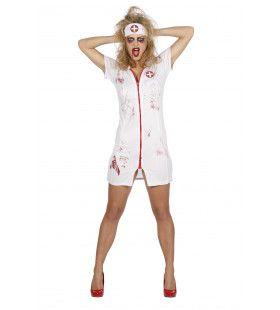Sexy Verpleegster Met Bloed Vrouw Kostuum