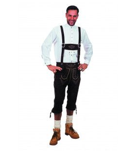 Lange Lederhose Karl-Heinz Zwart Man