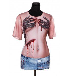 Shirt Horror Hand Bra Print Man