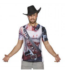 Shirt Met Print Cowboy Na Duel Man