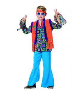 Heftig Hallucinerende Hippie Blouse Met Vest Jongen