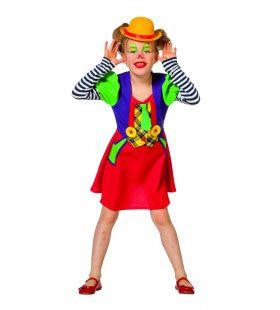 Grappige Brutale Circus Clown Meisje Kostuum