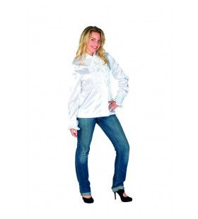 Deftige Dame Blouse Met Ruches Vrouw