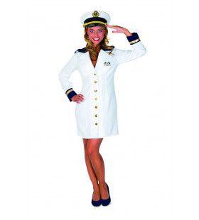 Kapitein Cruise Schip Holland Amerika Lijn Vrouw Kostuum