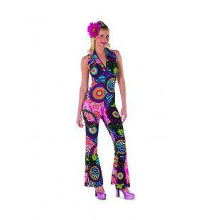 Eindeloze Cirkel Hippie Jaren 60 Vrouw Kostuum
