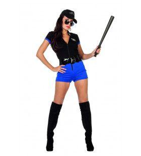 Kampioen Arresteren Politie Catsuit Vrouw Kostuum