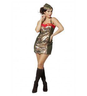Winnen Zonder Schieten Leger Vrouw Kostuum
