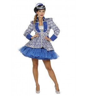 Kobalt Blauwe Show Jas Opera Vrouw