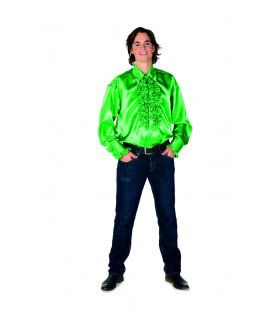 Dolle Disco Ruches Blouse Groen Man