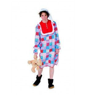 Patchwork Nachthemd Grootmoeder Kostuum