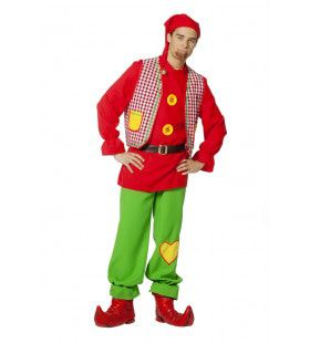 Bontgekleurde Kabouter Sprookjesbos Man Kostuum