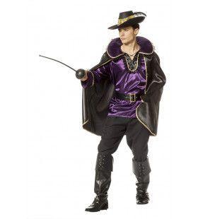 Franse Schermer Musketier Man Kostuum