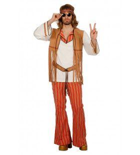 Here Comes The Sun Hippie Man Kostuum