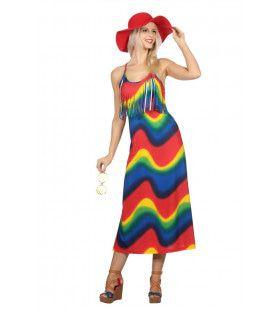 Vintage Jaren 60 Hippie Vrouw Kostuum